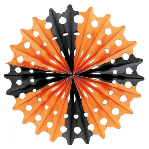 HALLOWEEN PAPER FAN-DIAM.55 CM