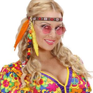 Hippiestirnband mit Perlen und Federn