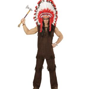 Kostüm Indianer kurze Arme Gr.M