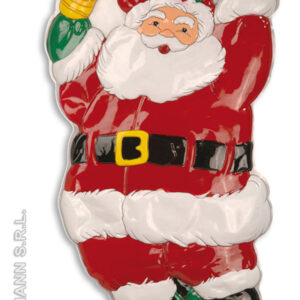 3D-Wandbehang Weihnachtsmann mit Glocke