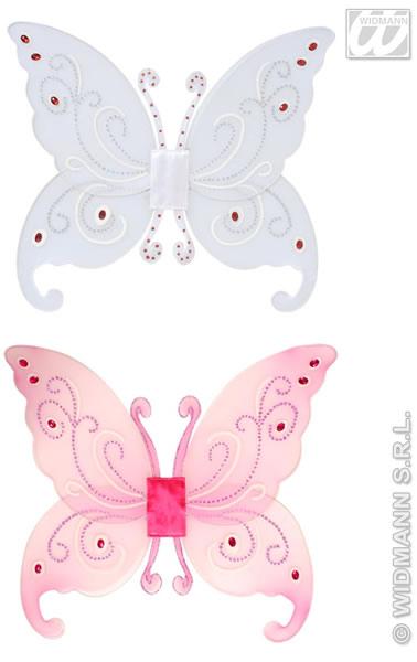 Fantasy Glitter Flügel, rosa und weiß gem.