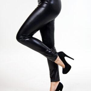 Leggings Glanz schwarz one size
