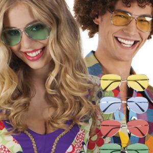 Partybrille Retro 5 Farben sortiert