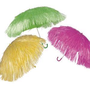 Schirm Raffia 3 Farben sortiert