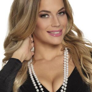 Perlenkette weiß zweireihig