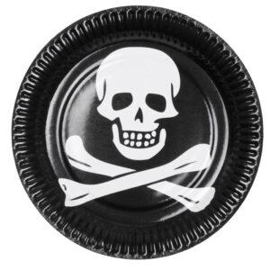 Satz 6 Tellerchen Pirat (23 cm)