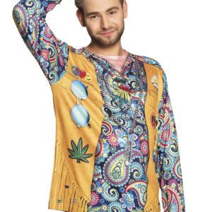 Fotorealistisches Shirt Hippie Gr. L
