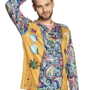 Fotorealistisches Shirt Hippie Gr. XL