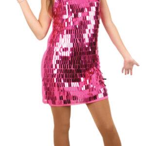 Kleid pink mit großen Pailletten Gr. M