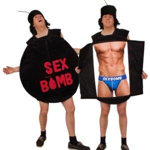 Kostüm Sexbombe mit Hut one size