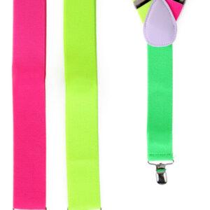 Hosenträger neon zweifarbig