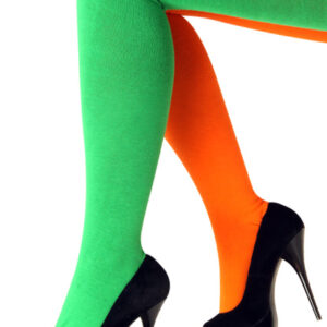 Strumpfhose grün-orange 140/152