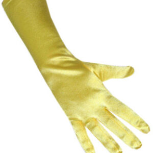 Satinhandschuhe gelb 40cm