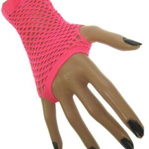 Netzhandschuhe fingerlos neon-pink