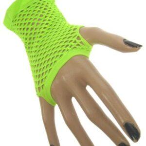 Netzhandschuhe fingerlos neon-grün