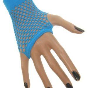 Netzhandschuhe fingerlos neon-blau