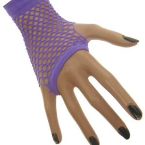 Netzhandschuhe fingerlos lila