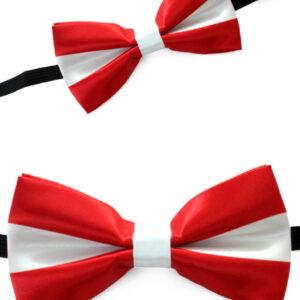 Satinschleife rot/weiß
