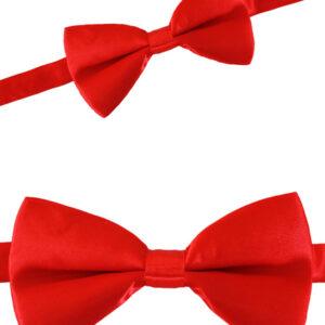 Satinschleife rot 12 x 6.5 cm