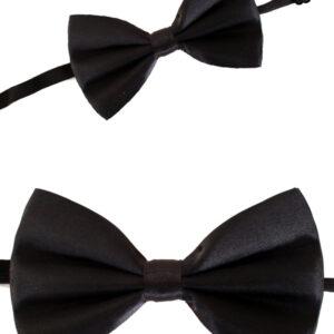 Satinschleife schwarz, 13 x 8.5 cm