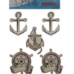 Marine Tattoos Anker Steuerrad