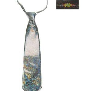 Krawatte silber-holografisch