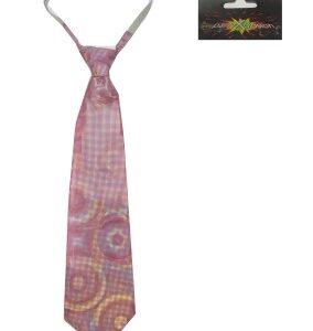 Krawatte pink-holografisch