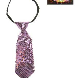 Krawatte zartrosa Pailletten