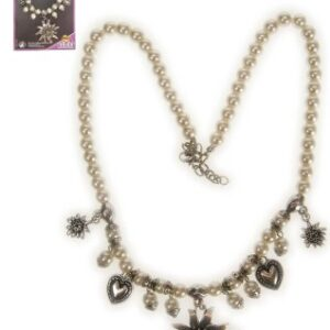 Perlenkette mit Edelweiss