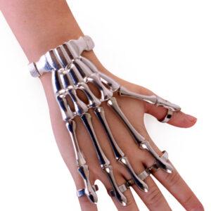 Armband Skelett Finger