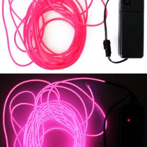 LED Leuchtschnur pink 5m