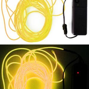 LED Leuchtschnur gelb 5m