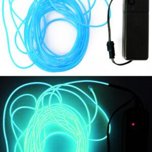 LED Leuchtschnur türkis 5m