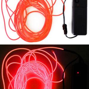 LED Leuchtschnur rot 5m