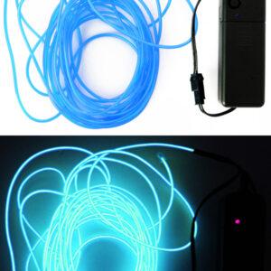 LED Leuchtschnur hellblau 5m