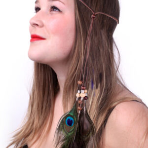 Stirnband Indianer-Ibiza mit Pfauenfeder