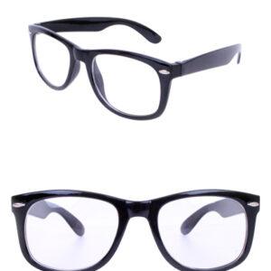 Nerd-Brille schwarz