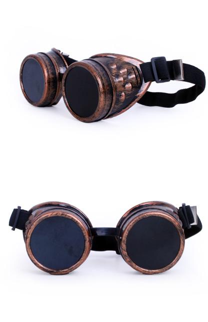 Brille Steampunk kupfer