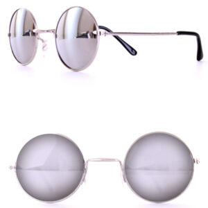 Lennon Brille Spiegelglas silber