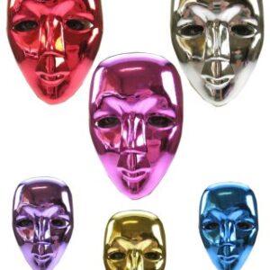 Vollmaske Metallic
