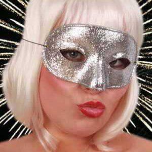 Augenmaske Domino silber