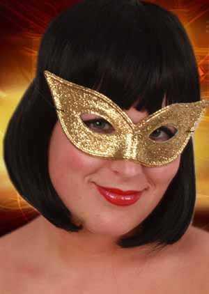 Augenmaske Schmetterling gold