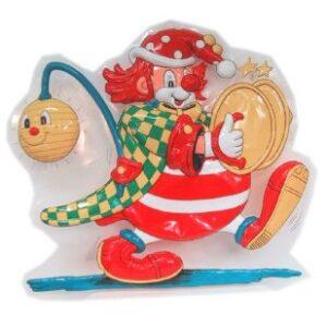 Wanddeko Clown mit Lampe und Becken