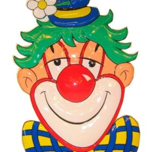 PVC Wanddekoration Clown mit Blume