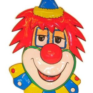 PVC Wanddekoration Clown rote Haare