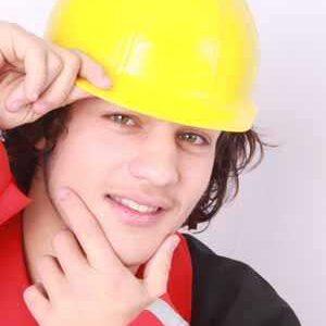 Bauarbeiterhelm für Kinder gelb