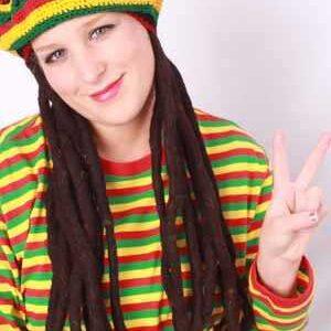 Bob Marley Mütze mit Rastalocken