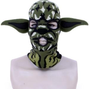 Strickmütze grün Monster