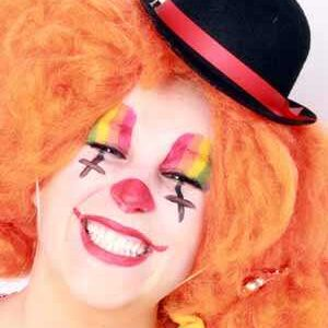 Mini-Melone Clown schwarz