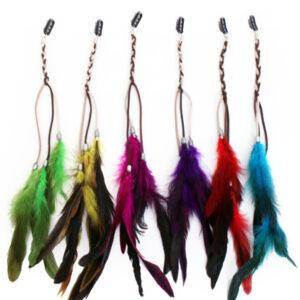 Indianer Haarsträhnen mit Federn